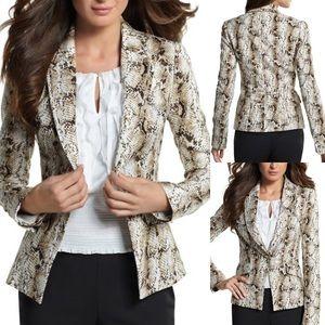 White House Black Market Snake Print Blazer Jacket
